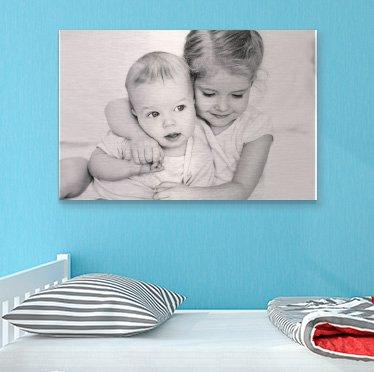 Foto op aluminium ophangen