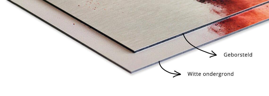 2 soorten foto op aluminium