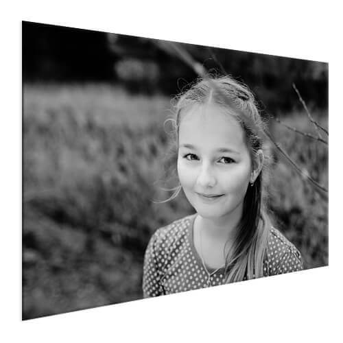 Kinderfoto op aluminium