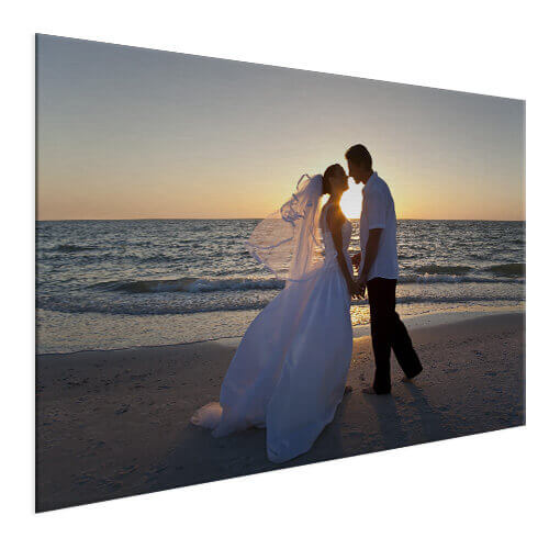 Huwelijksfoto op aluminium
