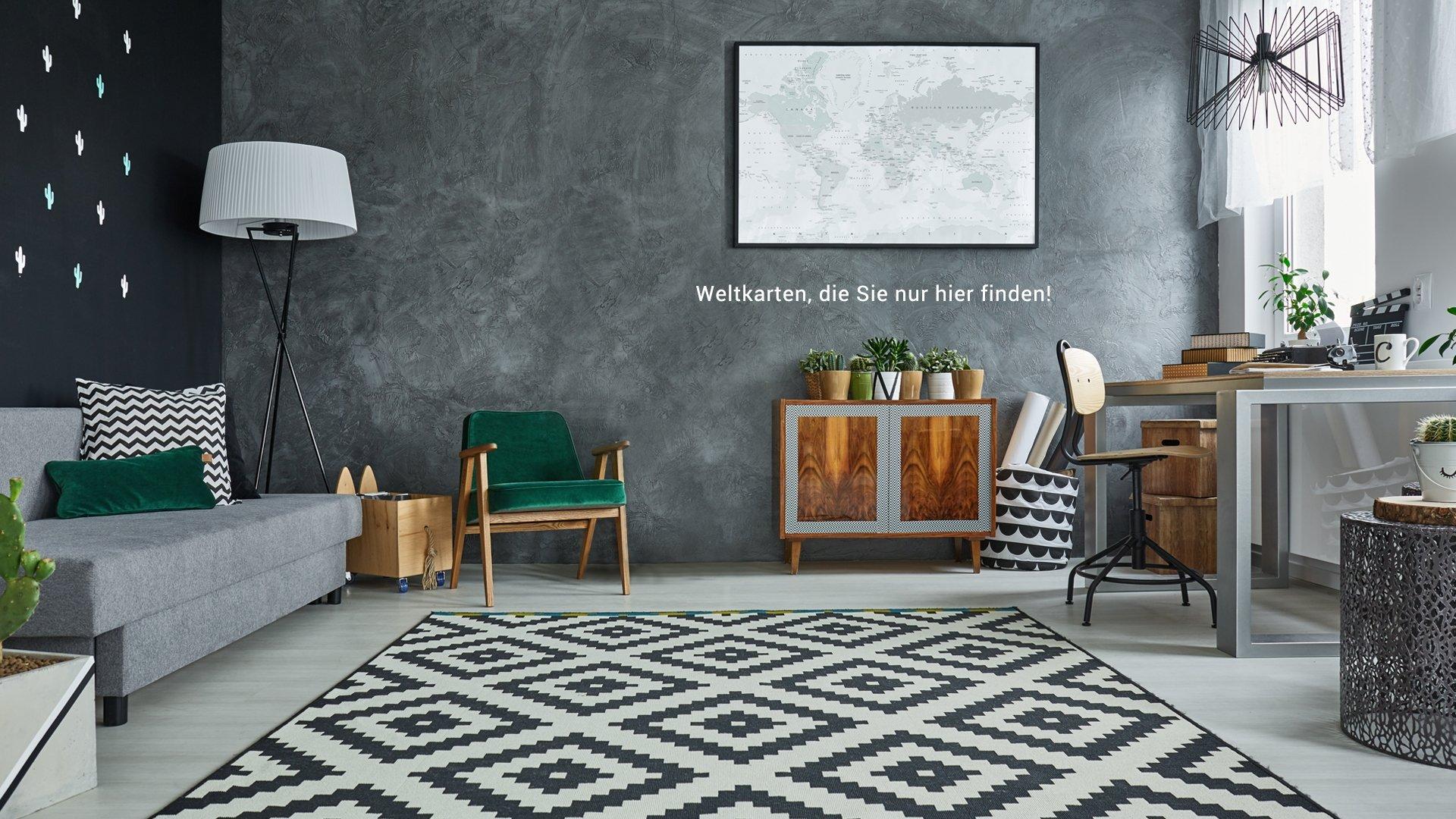 Wereldkaarten.nl Interieur design